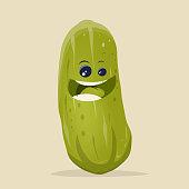 funny cartoon cucumber