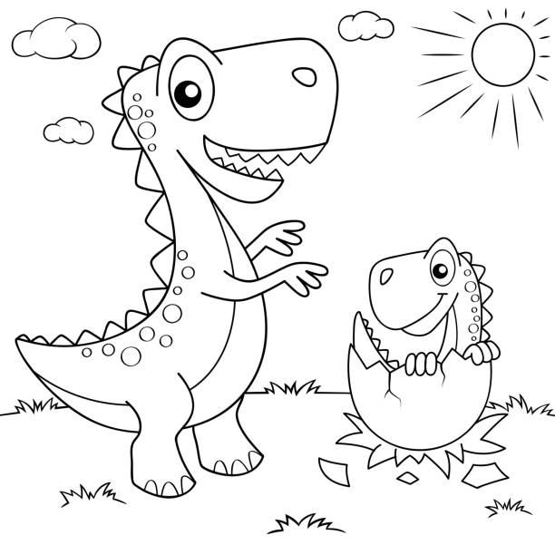 96 308 Coloring Pages Illustrations Clip Art Istock