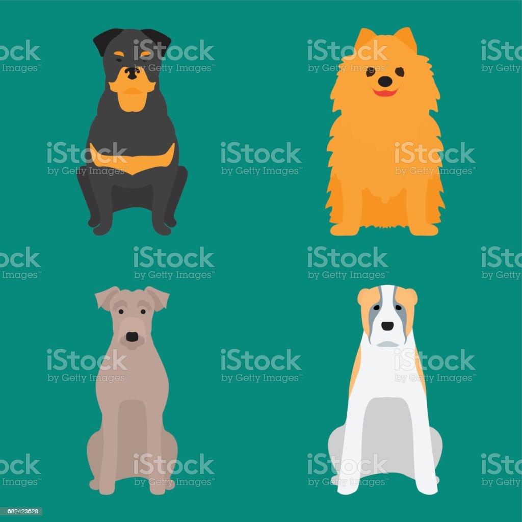 可愛的卡通狗性格麵包卡通小狗友好可愛的犬向量圖 免版稅 可愛的卡通狗性格麵包卡通小狗友好可愛的犬向量圖 向量插圖及更多 八哥 圖片