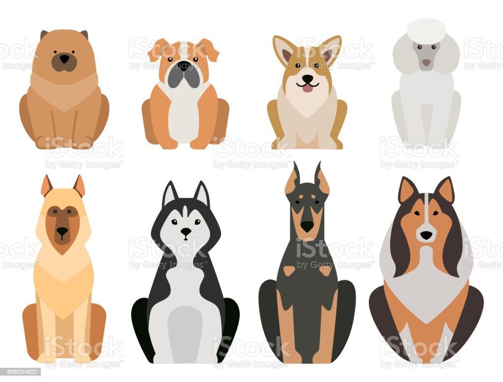 Ilustración De Dibujos Animados Graciosos Perro Carácter Pan