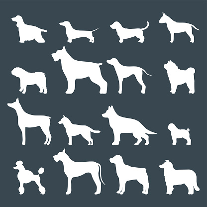 Dog silhouette stock illustrations
