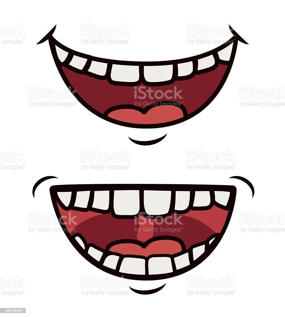 Funny cartoon face vector art illustration
