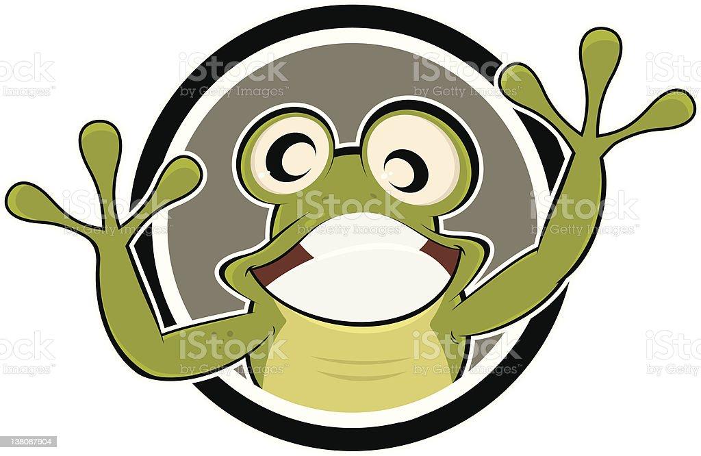 Lustiger Comicfrosch Stock Vektor Art Und Mehr Bilder Von Amphibie