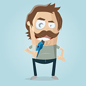istock funny cartoon man needs a haircut 1299178170
