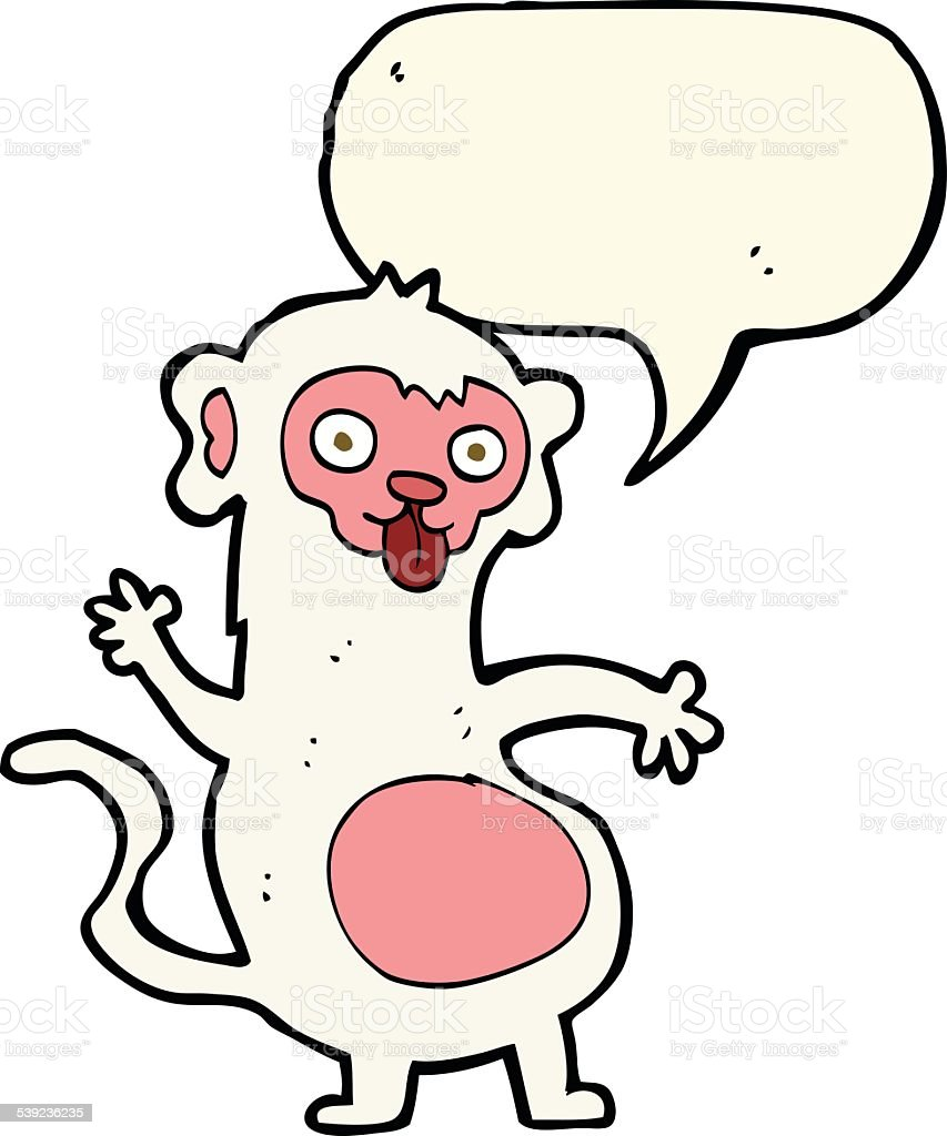 funny cartoon monkey with speech bubble royalty-free funny cartoon monkey with speech bubble stock vector art & more images of cheerful