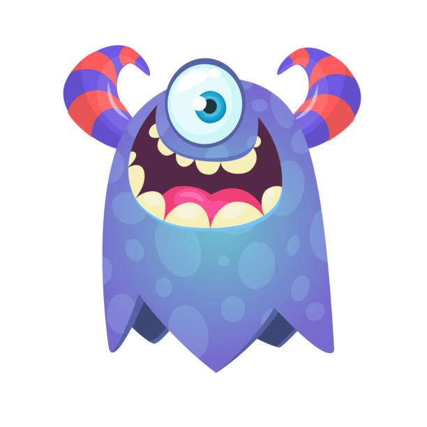 Lustige Cartoon-Monster. Vektor-Halloween-Illustration – Vektorgrafik