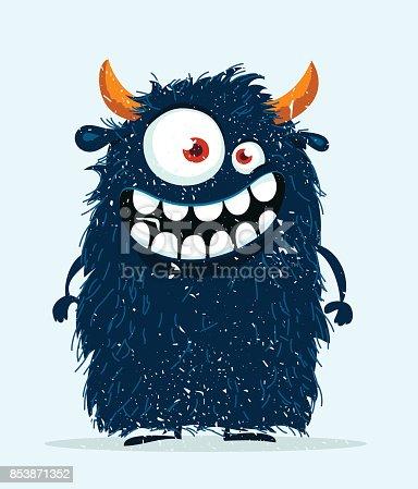 istock Funny cartoon monster. 853871352