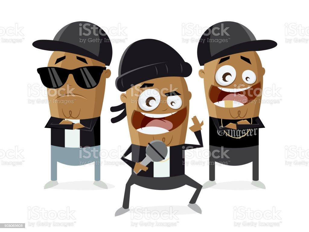 divertidos dibujos animados de raperos gangster ilustración de divertidos  dibujos animados de raperos gangster y más 39f976eca89