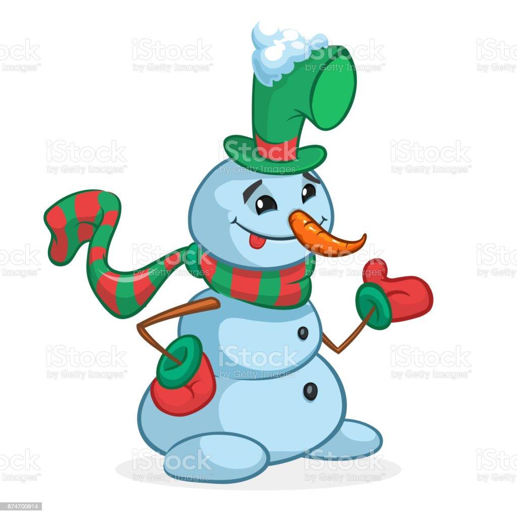 Lustige Cartoon Schneemann Skizziert Weihnachten Schneemann ...