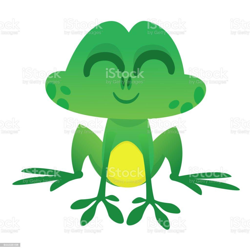 funny cartoon style green frog character in cartoon style vector rh istockphoto com Vector The Crocodile Frog Prince