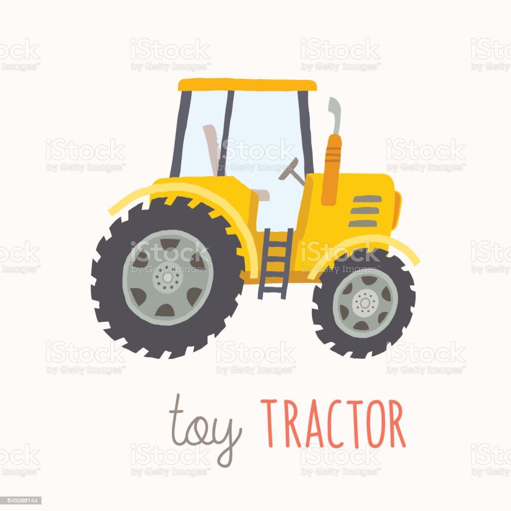 Yellow Tractor Clip Art : Funny cartoon yellow tractor stock vector art more