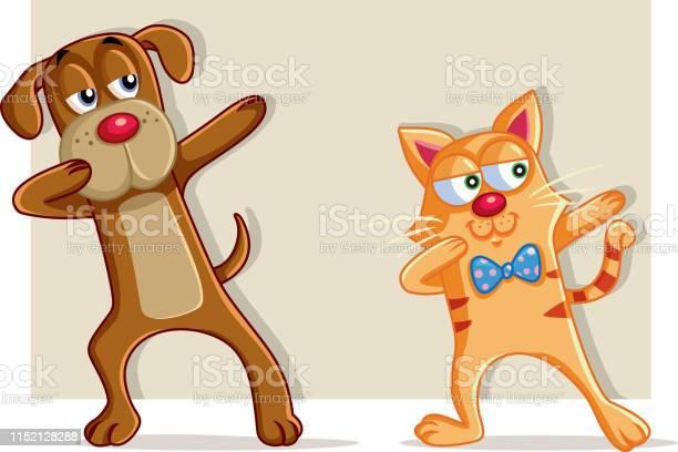 Funny cat and dog dabbing cartoon vector vector id1152128288?b=1&k=6&m=1152128288&s=612x612&h=t0olyixmzlxiqz6eo 5fdwouyalx2n nupchqxjhtcu=