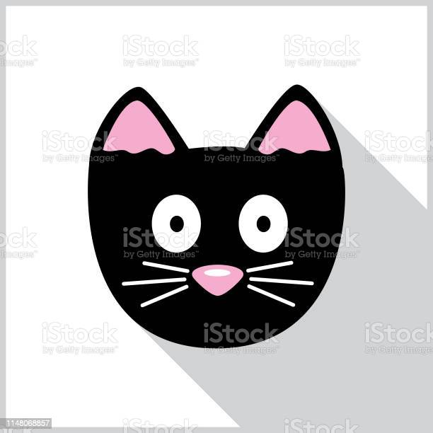 Funny cat face shadow icon vector id1148068857?b=1&k=6&m=1148068857&s=612x612&h=q csyd41zxp7bmbj88q8monr uud2snuwbp91m3gxmg=