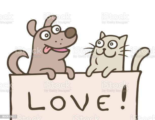 Funny cat with a dog is shown with the inscription love vector vector id950839622?b=1&k=6&m=950839622&s=612x612&h=u jq4es2iqs2v4qcvr2du5cwfa emxfigu4jgx7xufa=