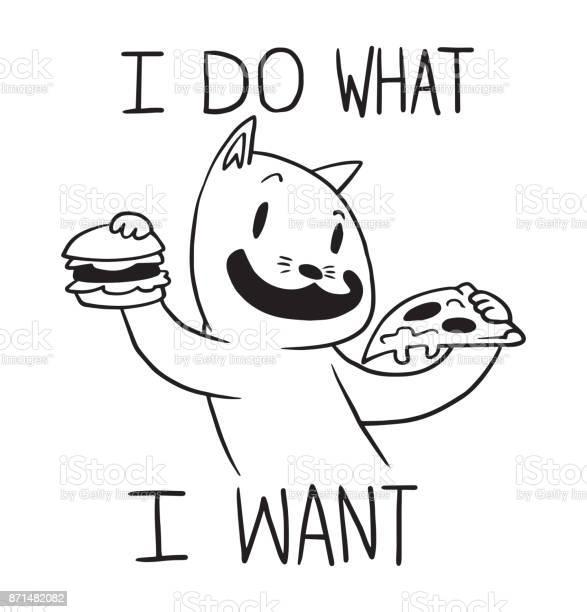 Funny cat with hamburger and slice of pizza line art vector id871482082?b=1&k=6&m=871482082&s=612x612&h=l981crjwy6 nstmdtgugtjv5ptwncpwecey0jkhv8e4=