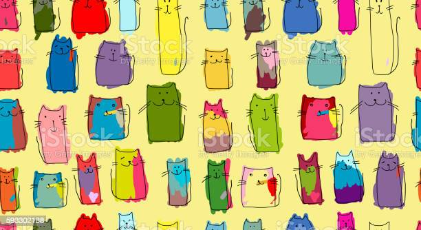 Funny cats family seamless pattern for your design vector id593302188?b=1&k=6&m=593302188&s=612x612&h=zdnwxraxqeahtra7 pihffzh8aky5lw6fby4zqt4a k=
