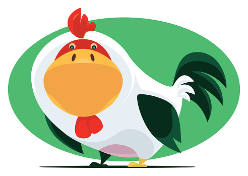 funny chicken character