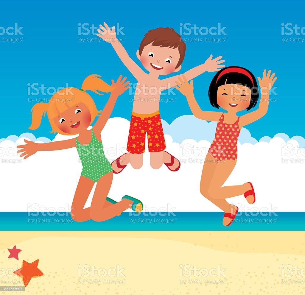 на детей пляже для рисунки