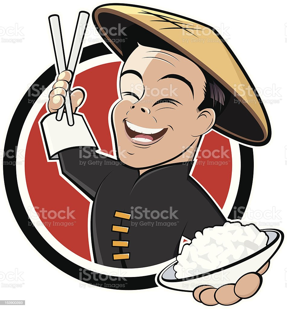 funny chinese cartoon vector art illustration