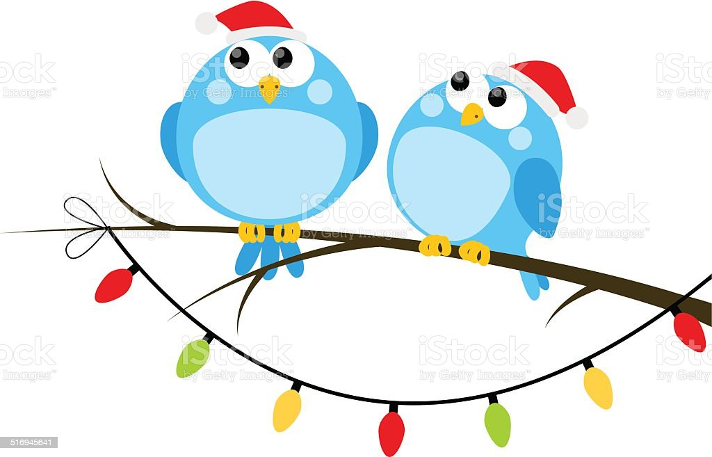 funny christmas birds stock vector art more images of animal rh istockphoto com vintage christmas bird clip art Christmas Animal Clip Art