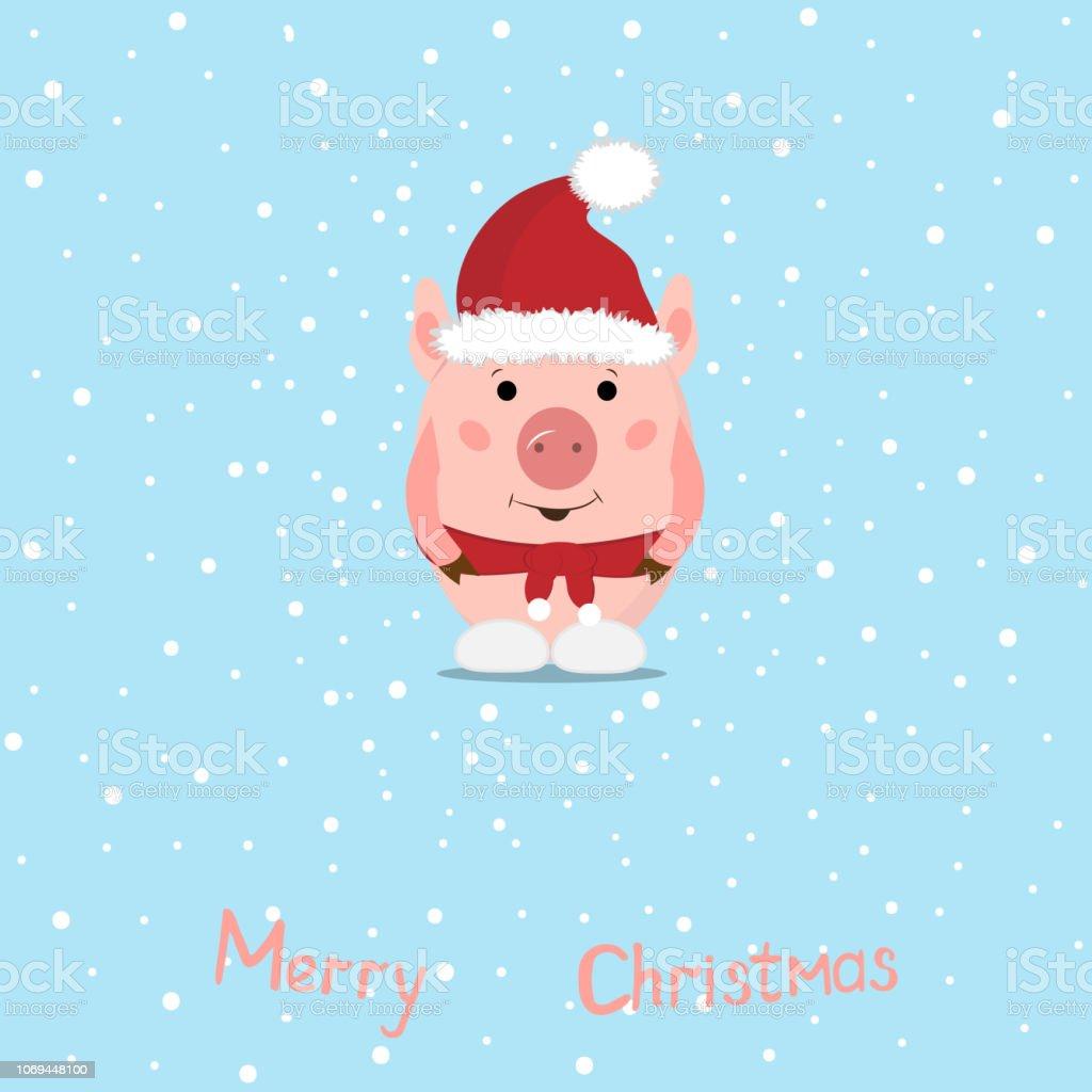 Frohe Weihnachten Lustige Bilder.Lustige Weihnachten Schweine Grusskarte Frohe Weihnachten Und Neujahr Schweinweihnachtsmann Stock Vektor Art Und Mehr Bilder Von 2019