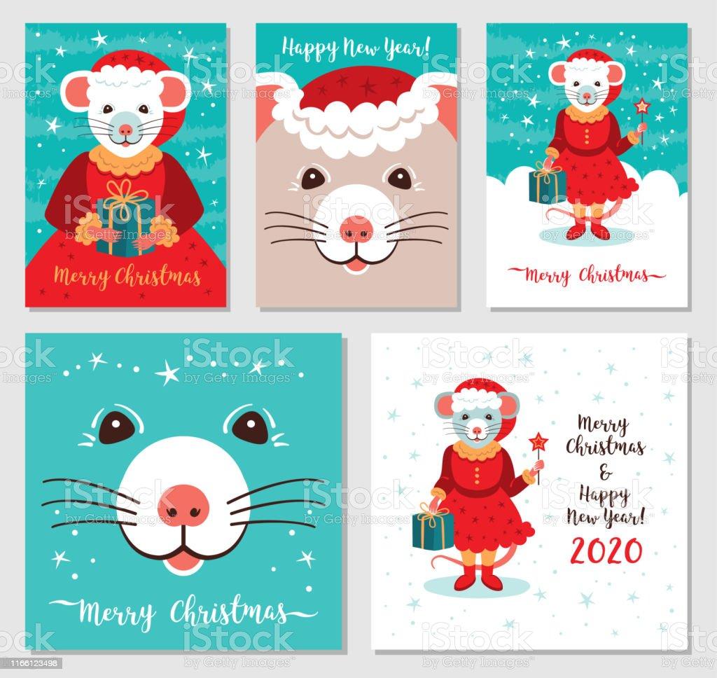 Grappige Kerstkaarten E Cards.Grappige Kerst Ratten Wenskaarten Vrolijk Kerstfeest En