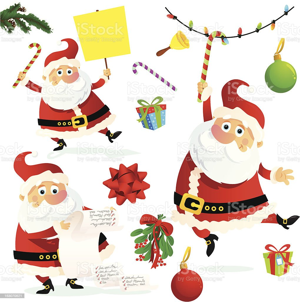 Lustiger Weihnachten Santa Claus Vektor Illustration 153070521   iStock