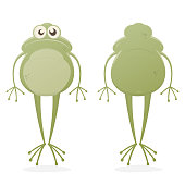 funny clipart of a frog
