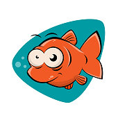 funny clipart of a smiling fish
