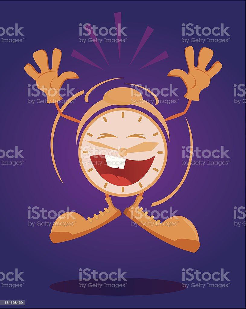 Funny clock royalty-free stock vector art