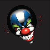 funny clown face