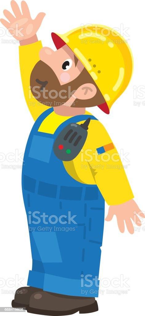 Lustige Bauarbeiter Stock Vektor Art Und Mehr Bilder Von Arbeit Und