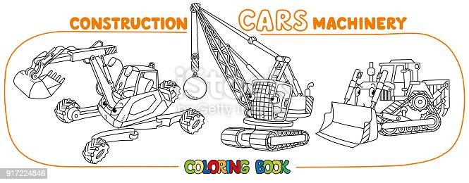 Ilustrao de conjunto de carros engraados da construo livro de ilustrao de conjunto de carros engraados da construo livro de colorir e mais banco de imagens de arte linear 917224846 istock ccuart Gallery