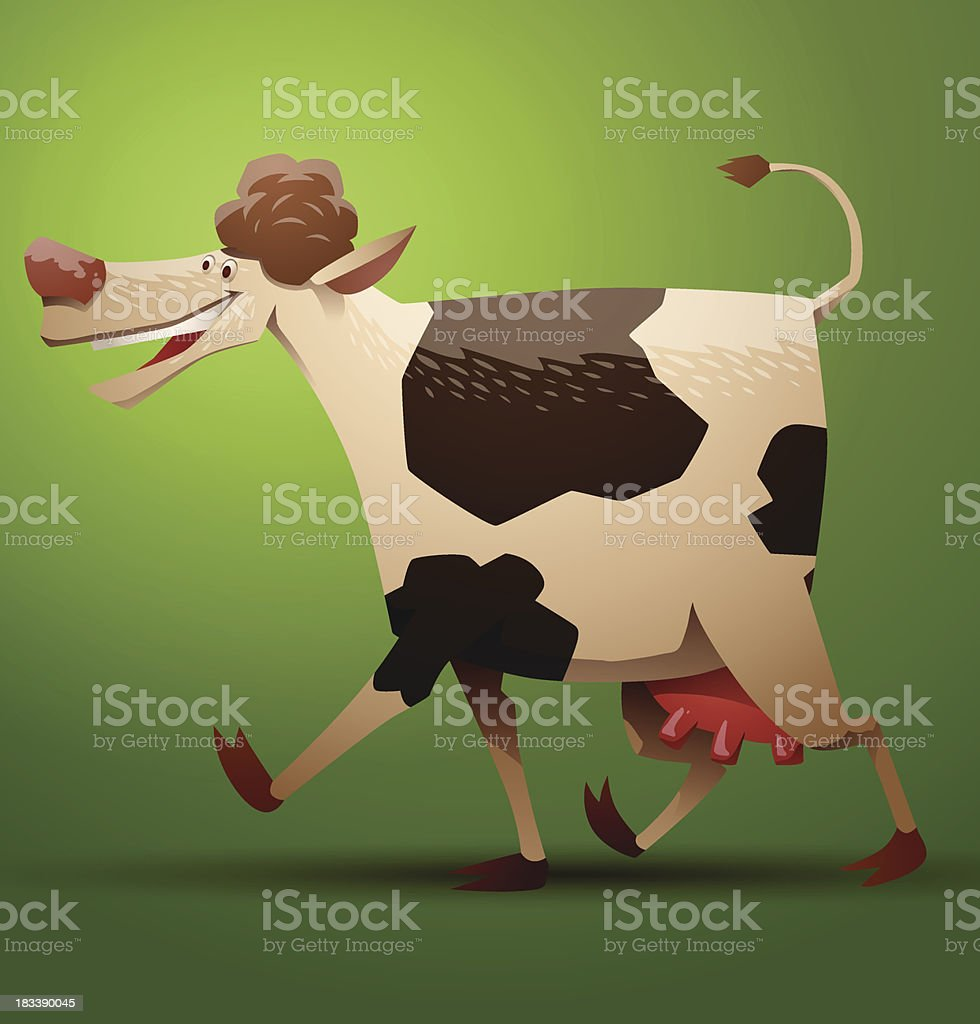 Funny cow brown and white spotted royalty-free funny cow brown and white spotted stock vector art & more images of agriculture