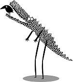 Funny crocodile  illustration