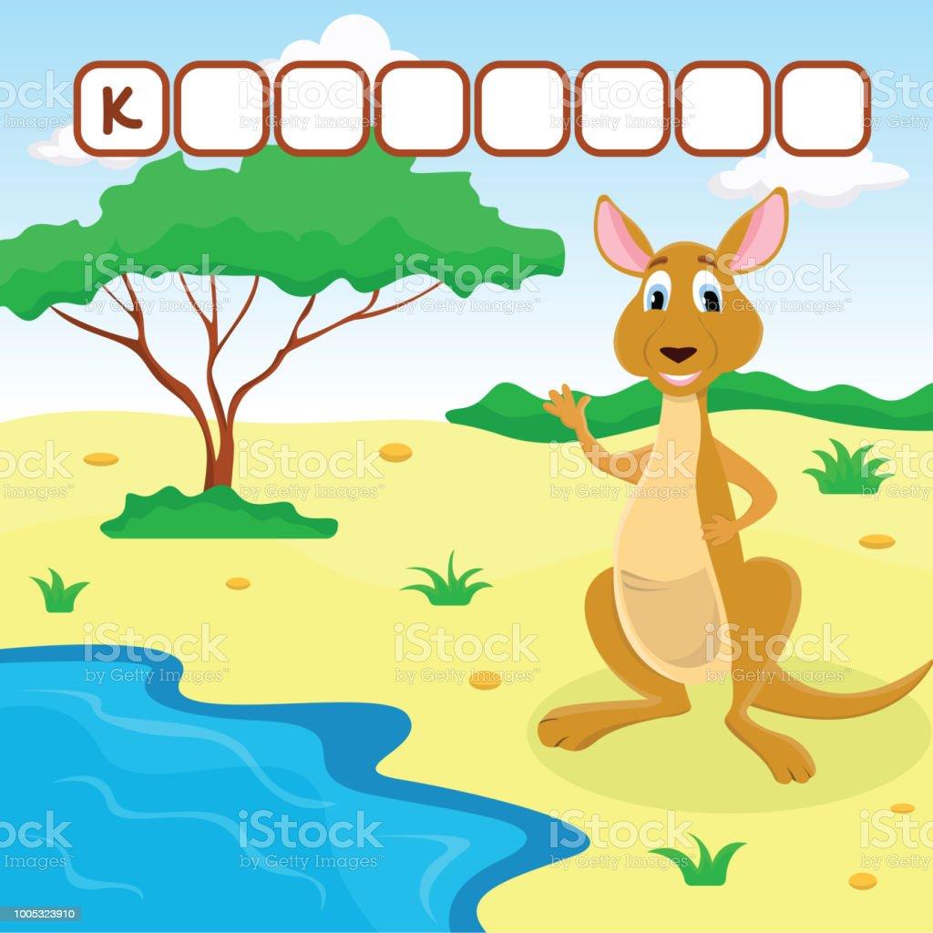 Lustige Kreuzworträtsel Spiel Mit Niedlichen Cartoon Von ...