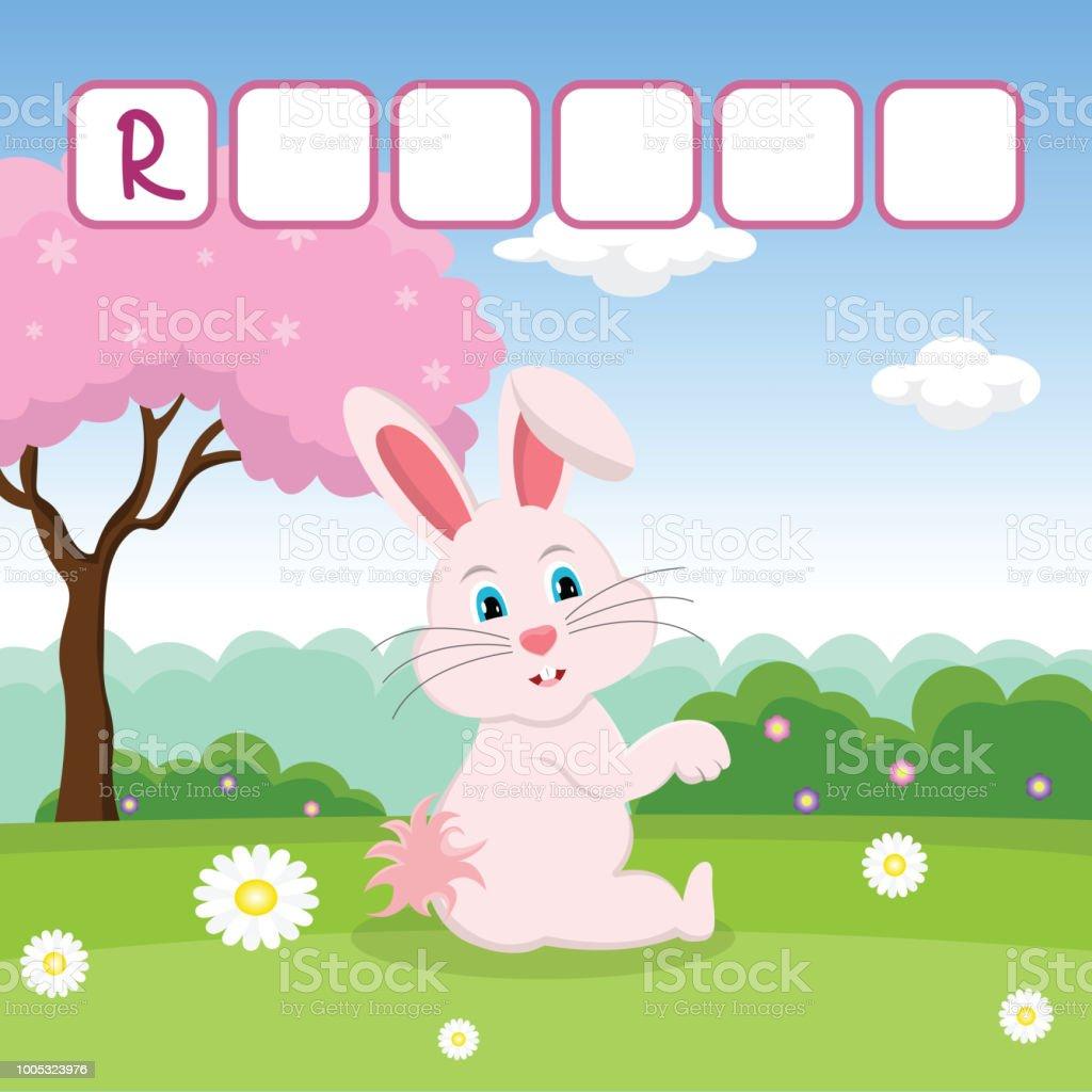 Lustige Kreuzworträtsel Spiel Mit Niedlichen Cartoon Von Rosa ...