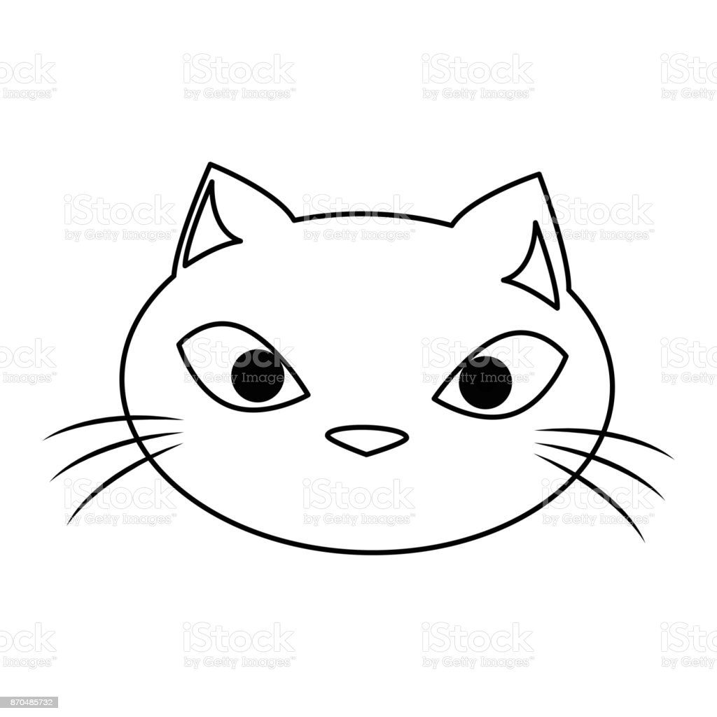 おもしろかわいい猫頭 のイラスト素材 870485732 | istock