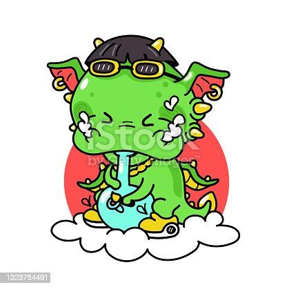 istock Funny cute vector cartoon illustration icon 1323754491