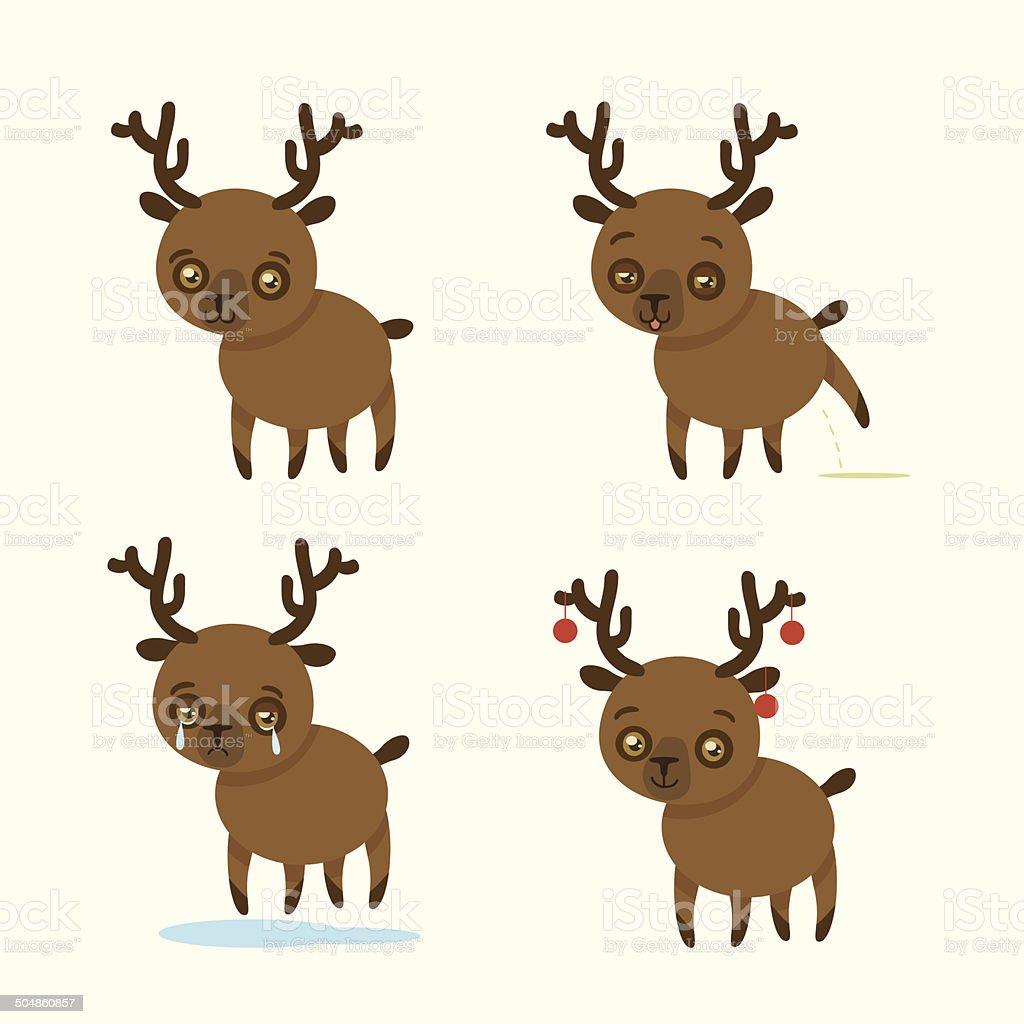 funny deer royalty-free stock vector art