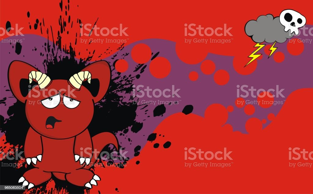 funny demon cartoon expression background royalty-free funny demon cartoon expression background stock vector art & more images of caricature
