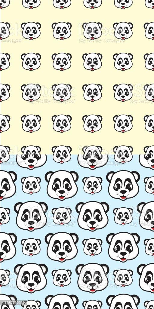 ilustración de divertido diseño sonrisa panda de dibujos animados de