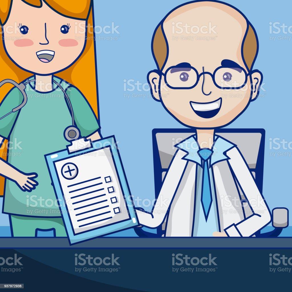 Lustige Arzte Cartoon Stock Vektor Art Und Mehr Bilder Von Arzt