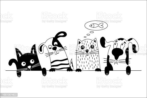 Funny dog and cute cat best friends vector id1001001622?b=1&k=6&m=1001001622&s=612x612&h=56wrc4m8h31xcmvxlchs0puktfx ya0xpv3jcb3cen4=