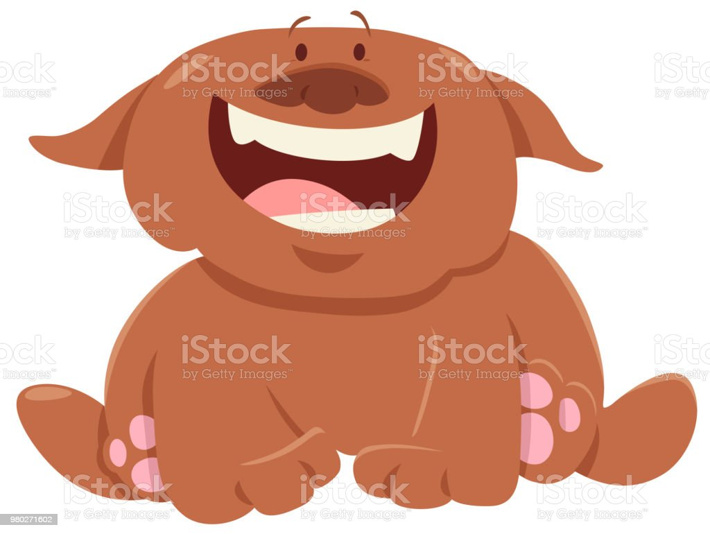 Funny Dog Or Puppy Cartoon Character Stock Illustration Download