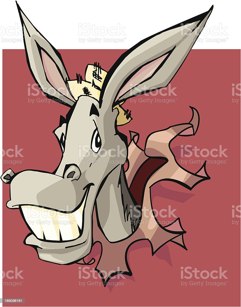 Funny Donkey royalty-free stock vector art