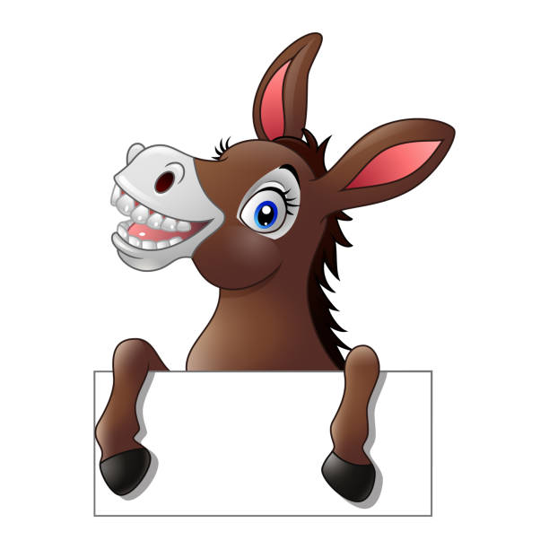 Best Laughing Donkey Illustrations, Royalty-Free Vector ...