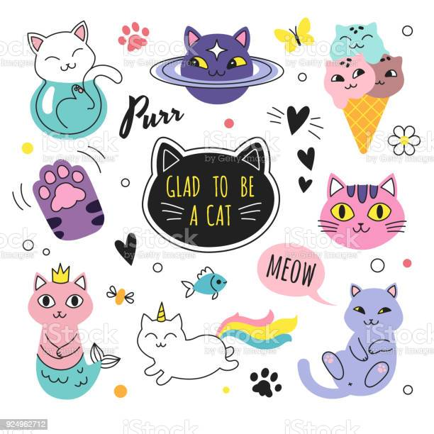 Funny doodle cats collection vector id924962712?b=1&k=6&m=924962712&s=612x612&h=ik6v6qenowej eetgacsth51 41yowtmnhk8f4rwvke=
