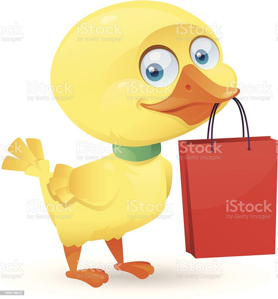 funny duckling vector art illustration