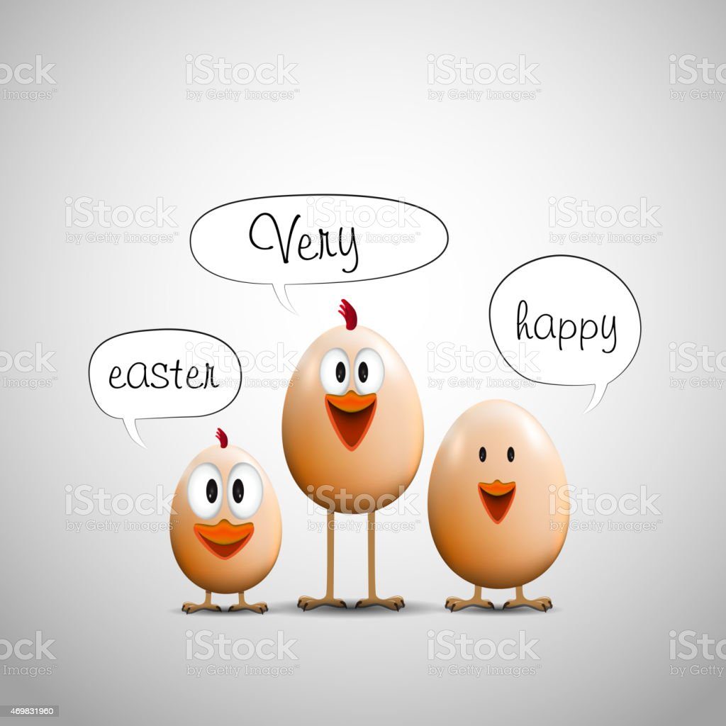 funny easter eggs chicks happy easter card stock vector art more